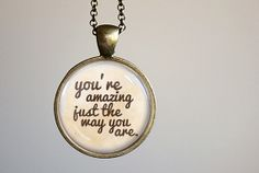 Bruno Mars Inspired Lyrical Quote Pendant Necklace