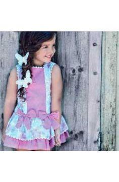 Vestido Dolce Petit colección primavera verano color malva