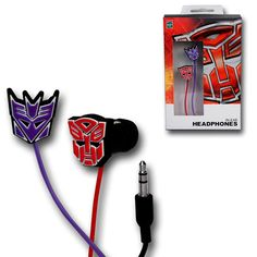 Transformers Rubber Symbol Earphones<<<<<< I don't care if these are the kind I don't like I wan them!