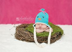 Knitted infant photography prop, so cute