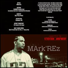 MArk'REz Underground Hiphop, Bigbang, Like Me, Hip Hop, Hate, Stress, Artists, Feelings, Music