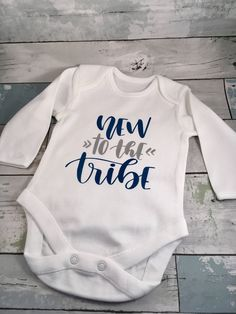 New to the tribe bodysuit, new baby gift, baby shower present, gender neutral baby gift, newborn babygrow, baby boy gift, baby girl gift