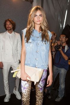 Cara Delevigne. She can almost pull of a lot of outfits that probably most people wont