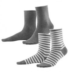 Pack de 2 calcetines mujer 98 algodón orgánico Living Crafts