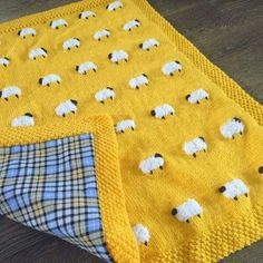 This adorable sheep blanket has fuzzy little sheep, great for a tactile experience for baby. Reverse side (optional) is a heavy flannel cotton that… blanket Reversible Sheep Baby Blanket, Handknit, Fuzzy Sheep, Flannel on Reverse (Optional) 3 Sizes Baby Knitting Patterns, Hand Knitting, Sewing Patterns, Crochet Patterns, Knitting Machine, Blanket Patterns, Crochet Sheep Free Pattern, Sewing Ideas, Sewing Crafts
