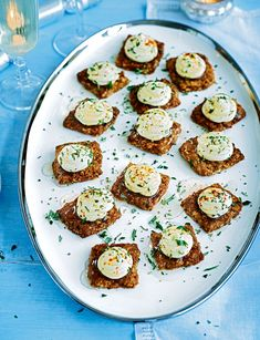 Forget blinis, Raymond Blanc's combination of herby goat's cheese and oat biscuit will be your new favourite canapé recipe.
