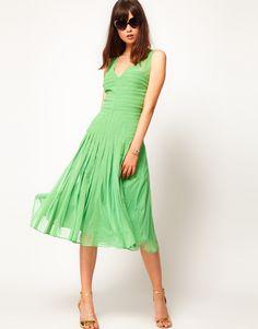 ASOS | ASOS Midi Dress with Applique Panel at ASOS