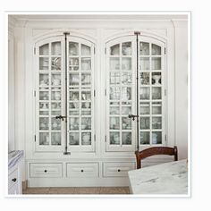 Repurposed windows for cabinet