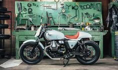 Moto Guzzi Cafe Racer for girl by OMT Garage #motorcycles #caferacer #motos | caferacerpasion.com