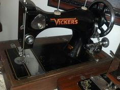 British made Vickers hand crank portable. Similar model to a Singer 128.