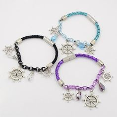 PandaHall Jewelry—Fashionable Imitation Leather Bracelets with Aluminum Chain | PandaHall Beads Jewelry Blog