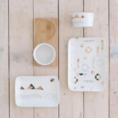 Alpine Trays Set - Handmade Ceramics, Handcrafted Pottery, Porcelain Art - JS Ceramics and George & Co Serving Utensils, Ceramic Design, Bowl Set, This Is Us, Porcelain, Pottery, Ceramics, Dip Bowls, Tablewares
