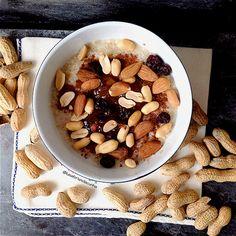 My Casual Brunch: Papas de aveia com amendoins e amêndoas