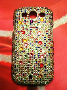 Samsung Galaxy III Rainbow Jewel Crystal Bling Rhinestone case. $20.00, via Etsy.---adding this to the maybe pile