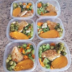 Being super busy @michelle_lovey saw the impact of unhealthy eating being tired and losing energy! She is now back on track with spicy chicken mixed veggies Brussel sprouts and sweet potato in her meal prep! - Make the time for meal prepping and your body will thank you! Download @mealplanmagic to see how you can fit healthy eating into your schedule! - ALL-IN-ONE TOOL & GUIDES - Build Custom Plans & Set Nutrition Goals BMR BMI & Max Rate Calculator Get Your Macros by Body Type & Goal…