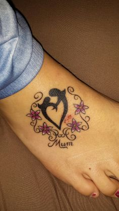 Mother daughter tattoo.  Love u mum