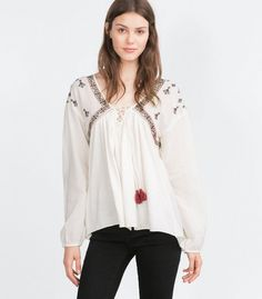 12 Embroidered Tops Worthy of Kate Moss. #styletips #embroidery #fashion