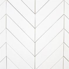 Herringbone tile backsplash. Need to find more affordable option. modwalls USA made 2x8 ceramic subway tile in white color Milk