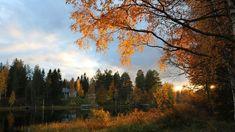 Sääkuva: Lokakuun aurinko laskee River, Celestial, Sunset, Outdoor, Outdoors, Rivers, Sunsets, Outdoor Games