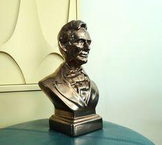 Vintage Abraham Lincoln Bronze Glazed Plaster by BeppieandEido
