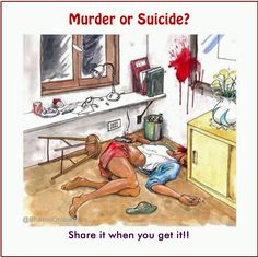 Wear your detective hats to solve this riddle. Here is a picture of a death scene. Can you look at the image and tell if it was a murder or suicide? Share it with your friends on Facebook and WhatsApp. Answer: Few things that hint that this is a murder and not suicide. The gun …
