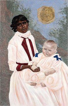 The Nurse Maid (Biddy) by Julie Dowling Nalini Malani, Aboriginal Painting, Aboriginal People, Identity Art, Australian Artists, People Of The World, Local Artists, Female Art, Online Art