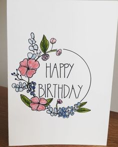 Most up-to-date Pics Birthday Flowers card Suggestions If you're searching for. - Most up-to-date Pics Birthday Flowers card Suggestions If you're searching for a thoughtful as we - Creative Birthday Cards, Homemade Birthday Cards, Homemade Cards, Diy Birthday Cards For Mom, Card Ideas Birthday, Birthday Images, Birthday Flowers For Her, Happy Birthday Flower, Flower Birthday Cards