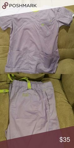 Med Couture scrub set Med Couture EZ Flex top and bottom. Both size medium. Excellent used condition. Orchid color. Med Couture Other