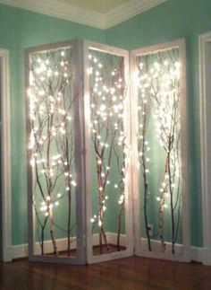 Lighted tree branch screen