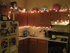Christmas Lighting Idea In Kitchen Design