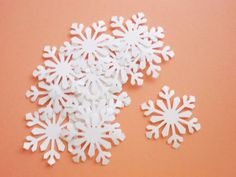 White Snowflake Confetti Die Cuts 2 inches by LilpawsPaperArt, $4.65