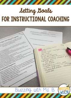 Buzzing with Ms. B: Setting Goals as an Instructional Coach. Tips for setting realistic and useful goals for coaching. Part One of the Start-Up Guide Series