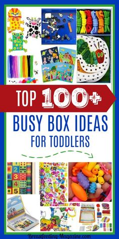 Top 100 best busy box ideas for toddlers and preschoolers.