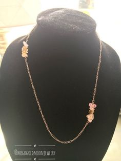 Crystal Layering Necklace by GoldMoonJewelry on Etsy
