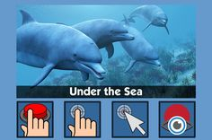 Under the Sea - free teaching activity for switch, touchscreen, pointing device and eye gaze users. Use online or download for Windows PC.