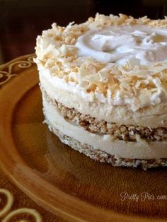 Raw Vegan 6 Layer Coconut Dream Cake