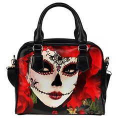 InterestPrint Sugar Skull Women Leather Shoulder Bag Handbag Satchel Bag Purse *** Details can be found by clicking on the image.Note:It is affiliate link to Amazon.