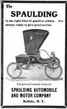 1904 Spaulding Automobile Advertisement