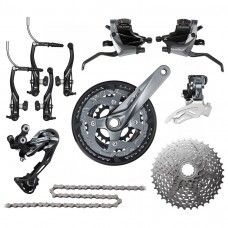 Shimano Alivio M4000 Groupset V-Brake 3x9-speed - www.store-bike.com