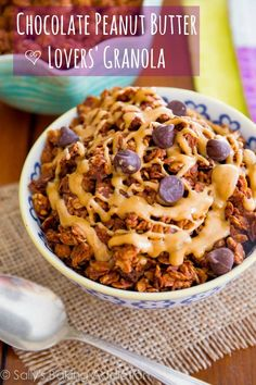Chocolate peanut butter lovers' granola from Sally's Baking Addiction