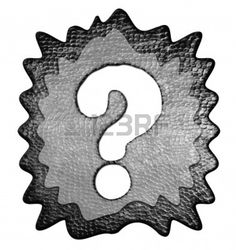 3d Metal Question Mark Stock Photo - 9246007