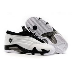 huge discount 86423 5518f Women Nike Air Jordan 14 Retro Low White Black Shoes Jordan 14, Jordan  Shoes,