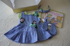 Bitty Baby Twin Tea Party Jumper Dress Set in Box Gently Used American Girl Twin Babies, Twins, Girl Dolls, Baby Dolls, Party Jumpers, Baby Doll Clothes, Bitty Baby, Dress Set, Jumper Dress