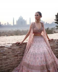 Glam up your looks with our latest lehenga collection. Buy bridal, party lehengas & designer chaniya cholis online in awesome designs fabrics at Best Prices. Indian Bridal Outfits, Indian Designer Outfits, Indian Dresses, Indian Clothes, Pink Lehenga, Bridal Lehenga Choli, Lehnga Blouse, Saree, Desi Wedding Dresses