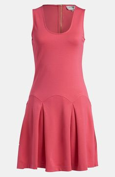 Great silhouette! Pink Pleated Dress, on sale.
