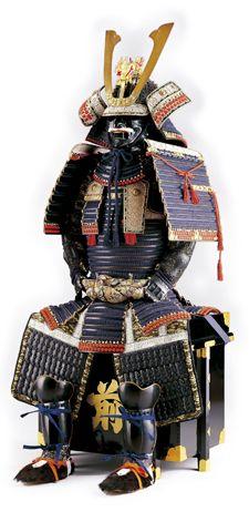 紺糸威総懸二枚胴具足 (Samurai armor)