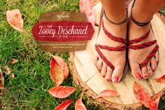"""We're excited forJess that we created the the """"Z"""" tie #newgirl Leather sandals straps!"""