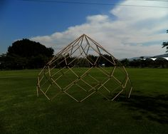 combining the words dome and zonohedron, ZOME BAMBOO