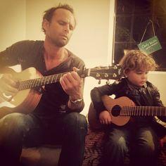 Walton Goggins and son