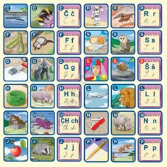 Pexetrio Plus Abeceda 2 Montessori, Autism, Projects To Try, Education, Learning, Logos, Alphabet, Literature, Studying